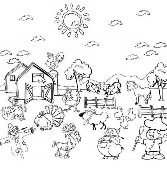 horseland coloring pages - bauernhof 04