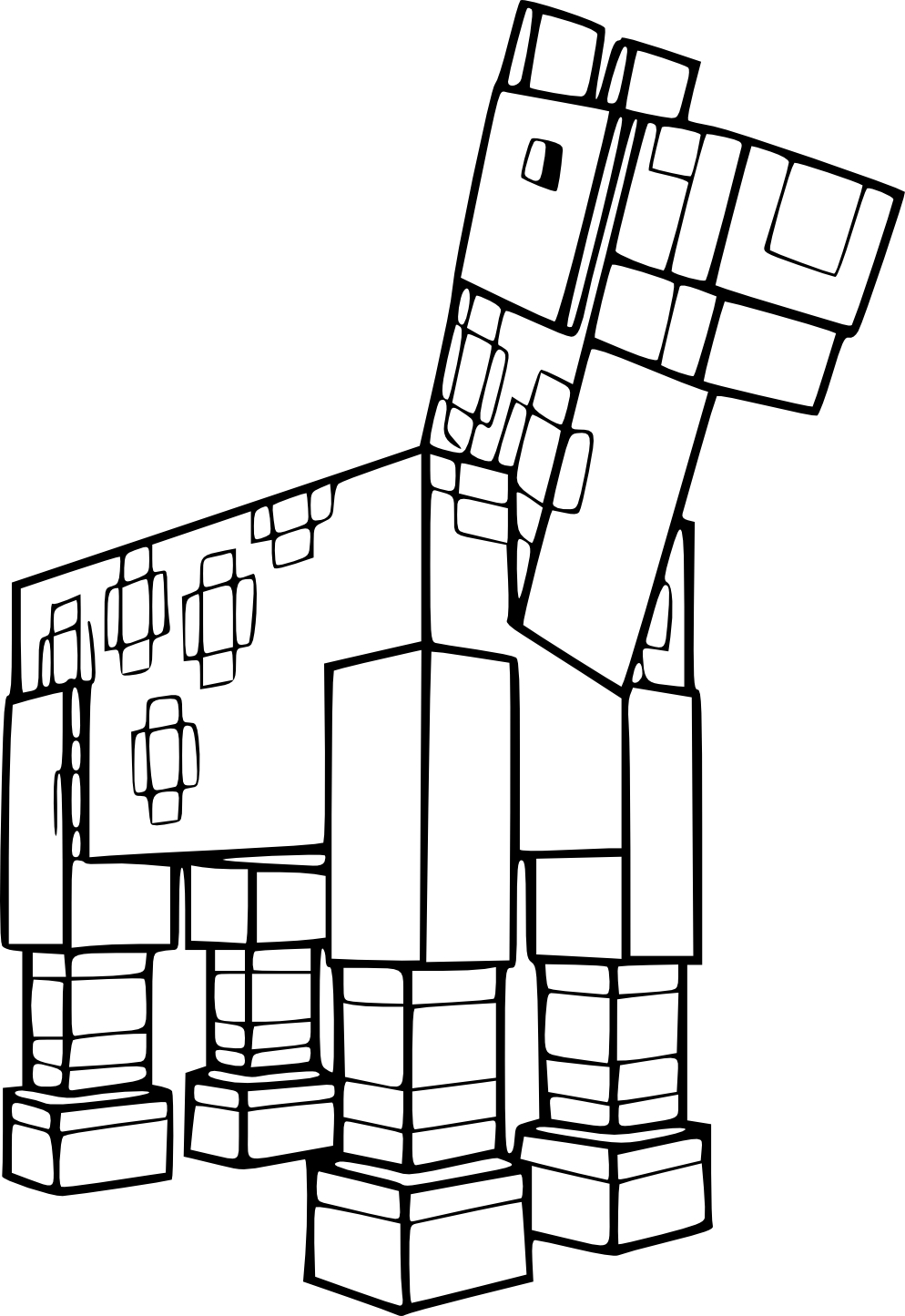 Horseland Coloring Pages - Coloriage Coloriage Cheval De Minecraft à Imprimer Sur