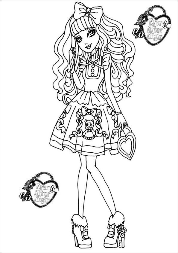 horseland coloring pages - ever after high 11