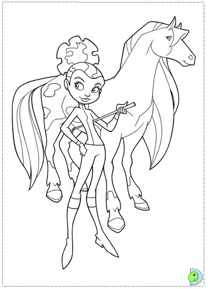 horseland coloring pages -