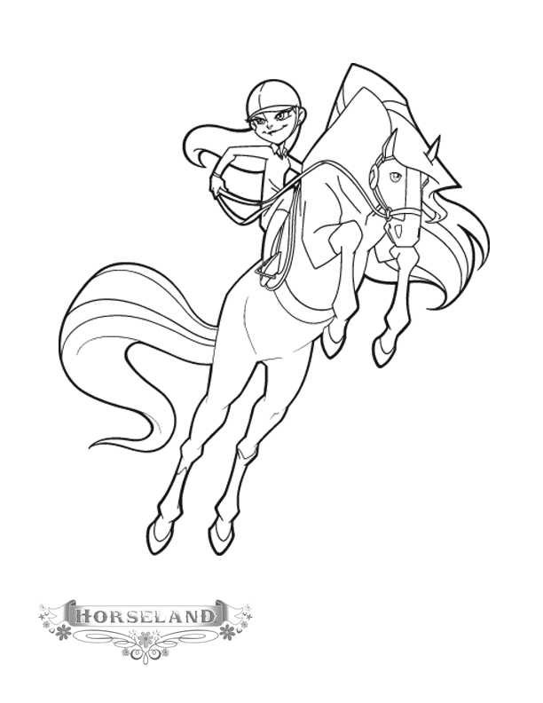 horseland coloring pages - horseland