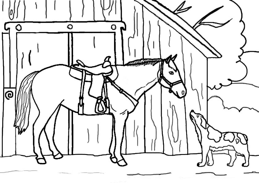 horseland coloring pages - pferde 11