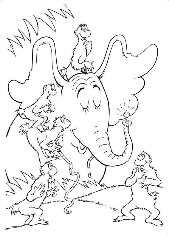horton hears a who coloring page - horton dr seuss coloring pages