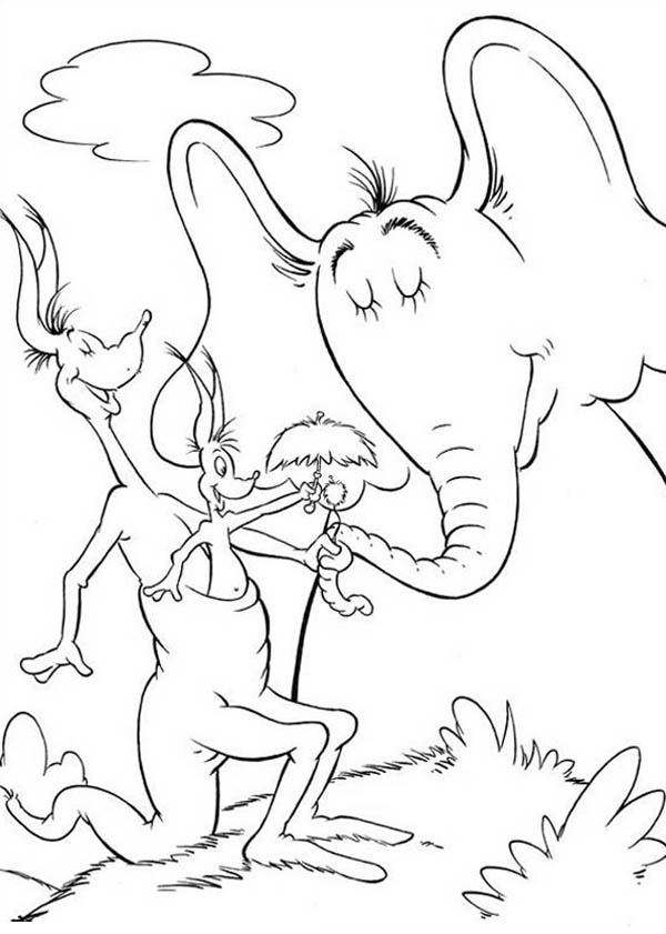 horton hears a who coloring page - horton hears a who coloring page