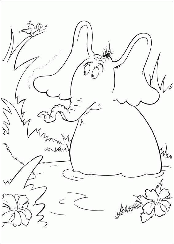 horton hears a who coloring page - horton hears a who coloring pages