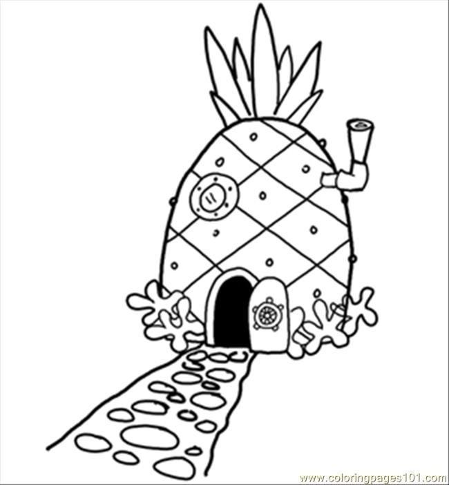 house coloring pages - 14 pineapplehousesquare 300