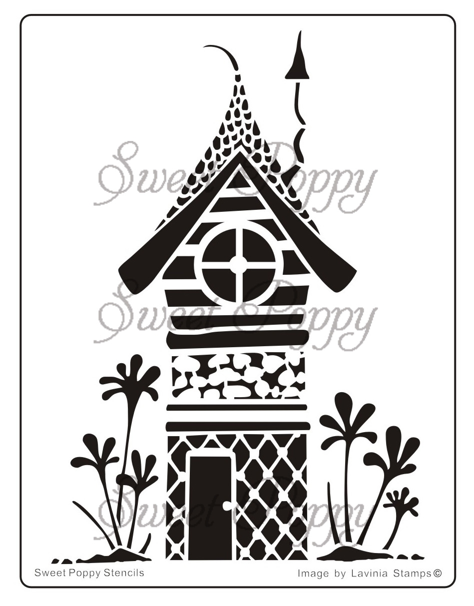 house coloring pages - sweet poppy stencil fairy house pi 1003