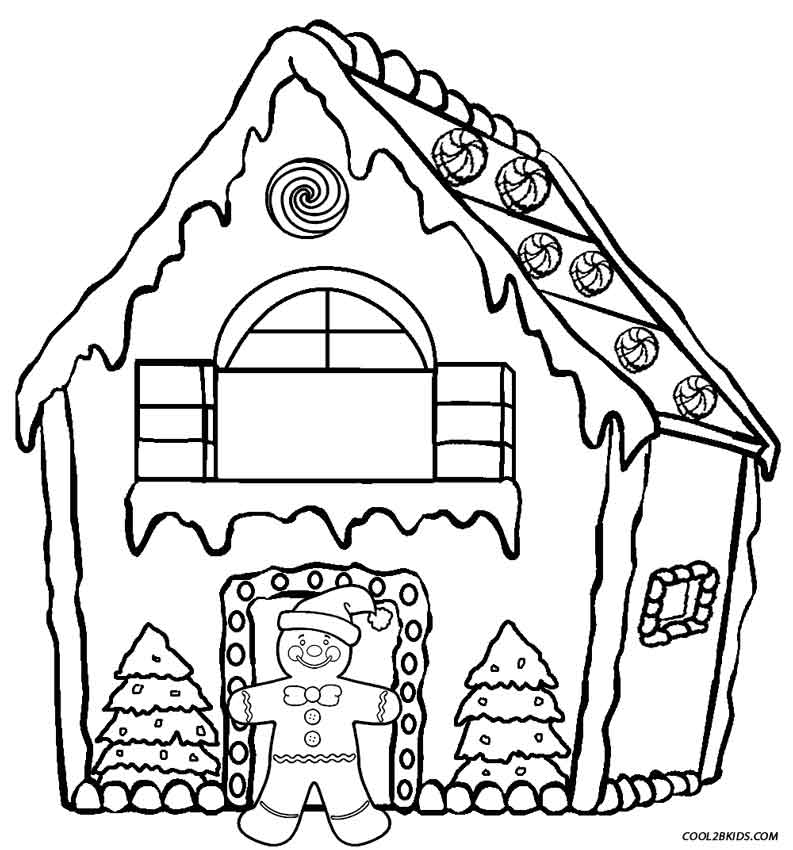 house coloring pages printable - post gingerbread house printables