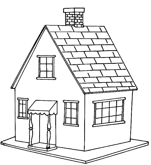 house coloring pages printable - house coloring pages
