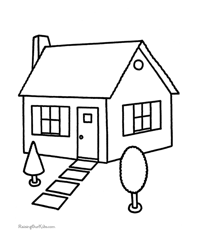 house coloring pages printable - 001 house coloring pages