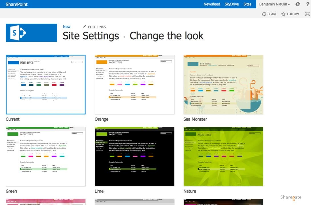 how to change background color in pages - create sharepoint2013 theme using color palette tool