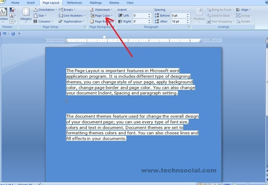 How To Change Page Color In Word