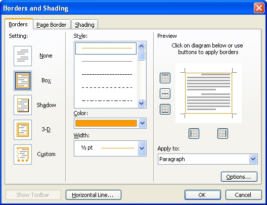 how to change page color in word - change page border color in word 2003