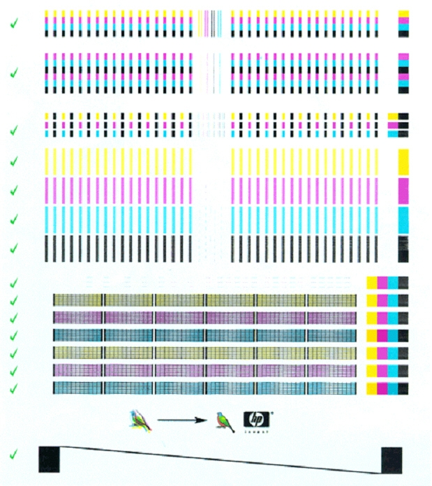 Hp Color Printer Test Page - Hp Color Inkjet Printer Cp1700 Internal Tests