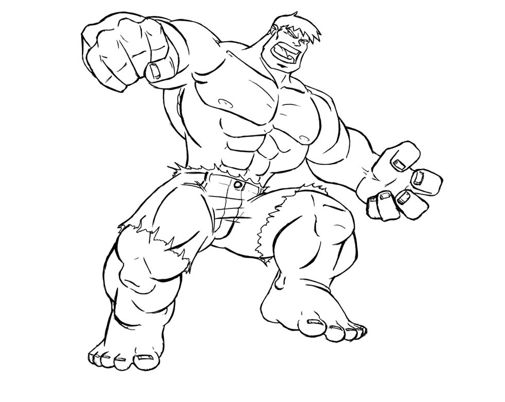 hulk coloring pages - the hulk coloring pages
