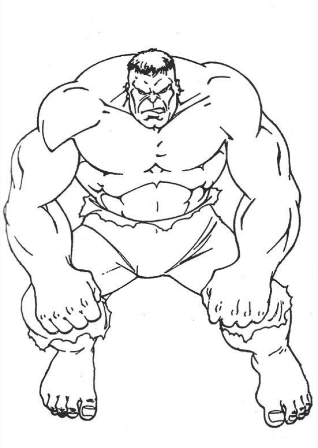 hulk coloring pages - the hulk