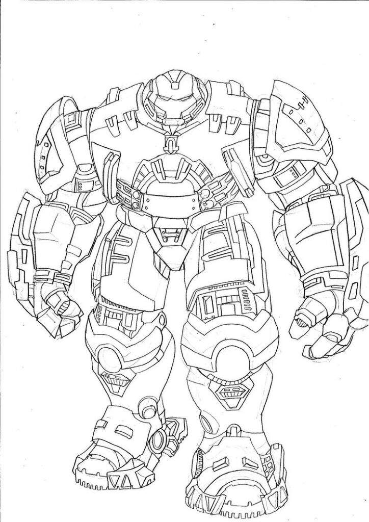 Figma Hulk Buster Coloring Pages