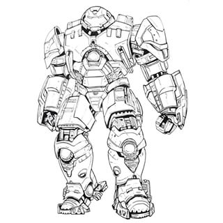 23 Hulkbuster Coloring Pages Pictures