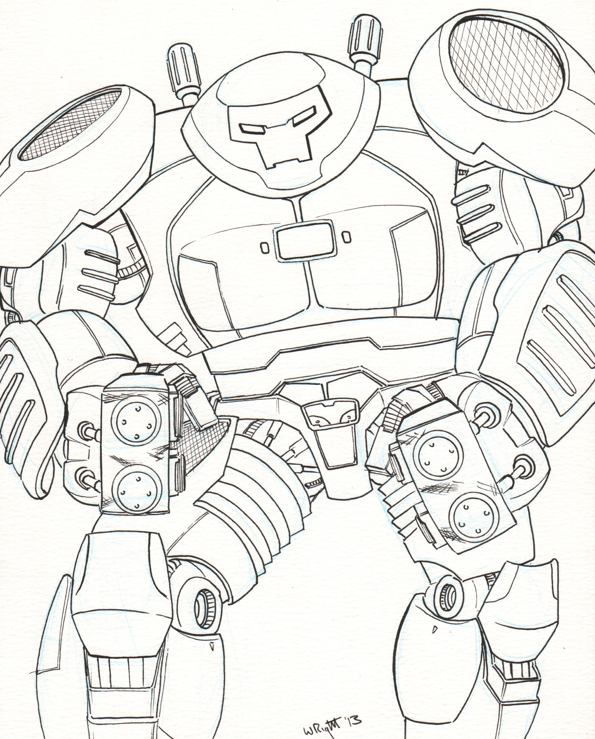 hulkbuster coloring pages - r=hulkbuster