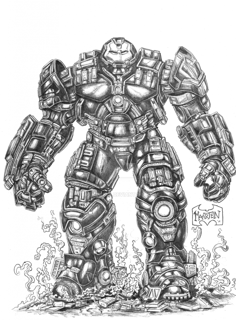 hulkbuster coloring pages - iron man hulkbuster avengers coloring pages