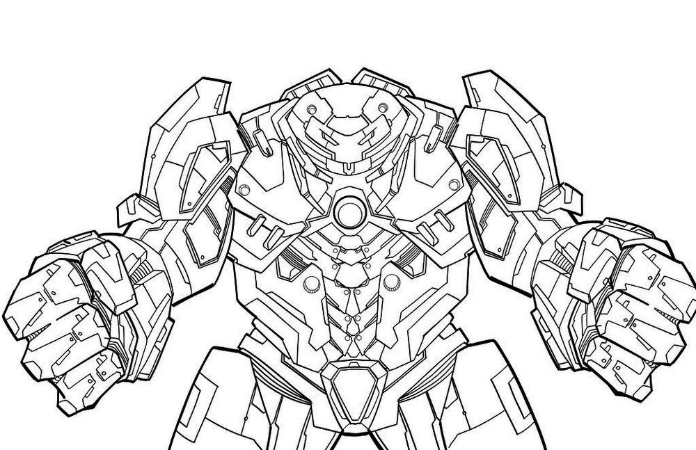 hulkbuster coloring pages - iron man pose coloring page