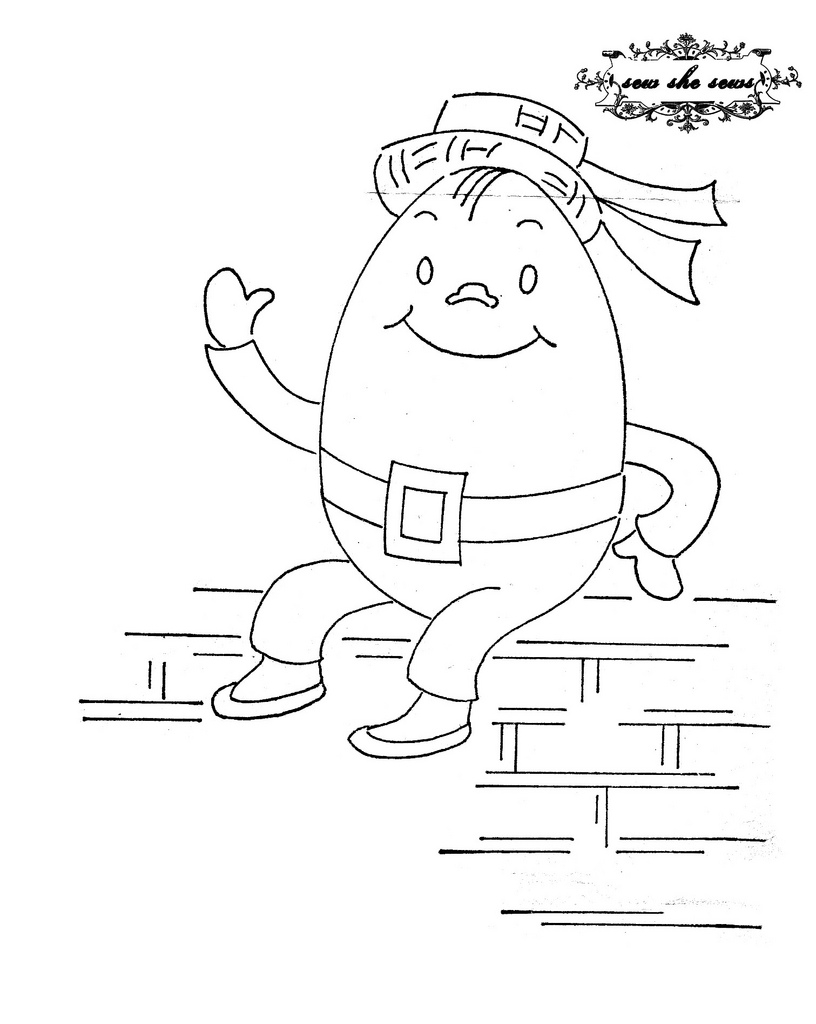Dorable Humpty Dumpty Coloring Pages Model - Example Resume and ...