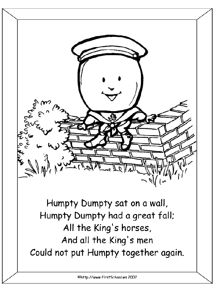 humpty dumpty coloring page - humpty dumpty coloring pages