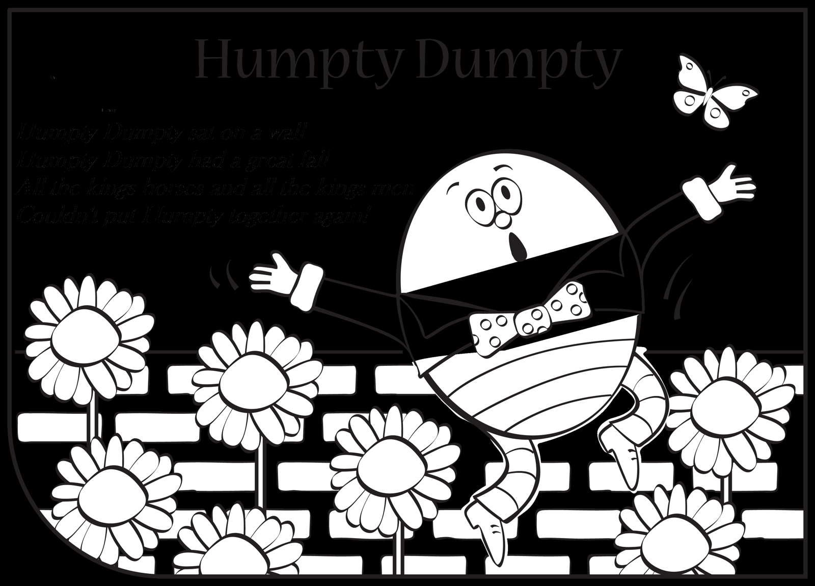 Humpty Dumpty Coloring Page - Humpty Dumpty Coloring Pages Coloring Home