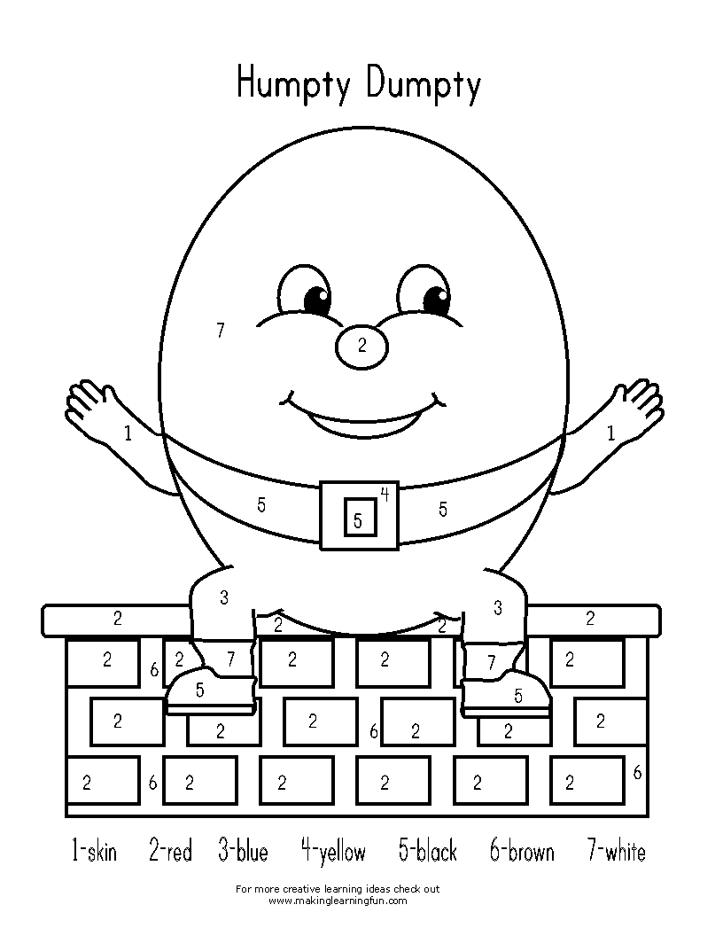 humpty dumpty coloring page - s=humty dumpty