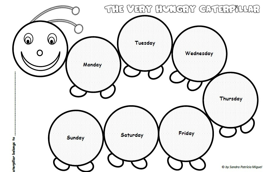 Hungry Caterpillar Coloring Page - Very Hungry Caterpillar Coloring Pages Printables