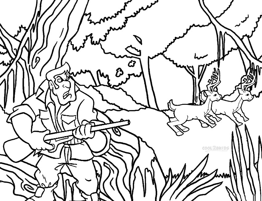 hunting coloring pages - 31