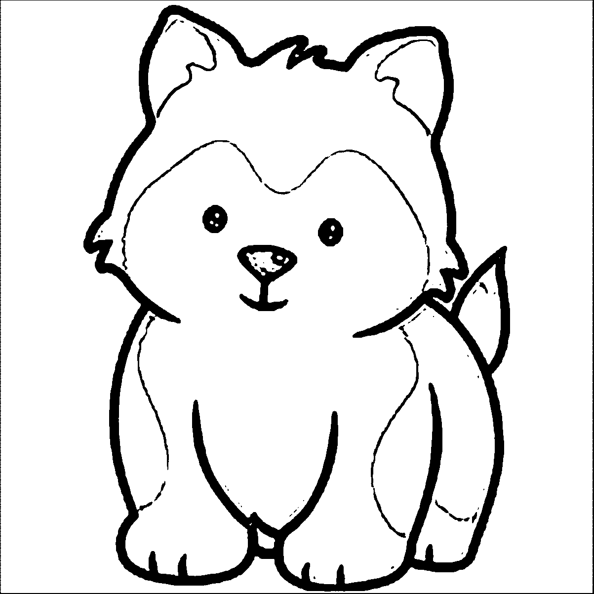 husky coloring pages - siberian husky coloring pages