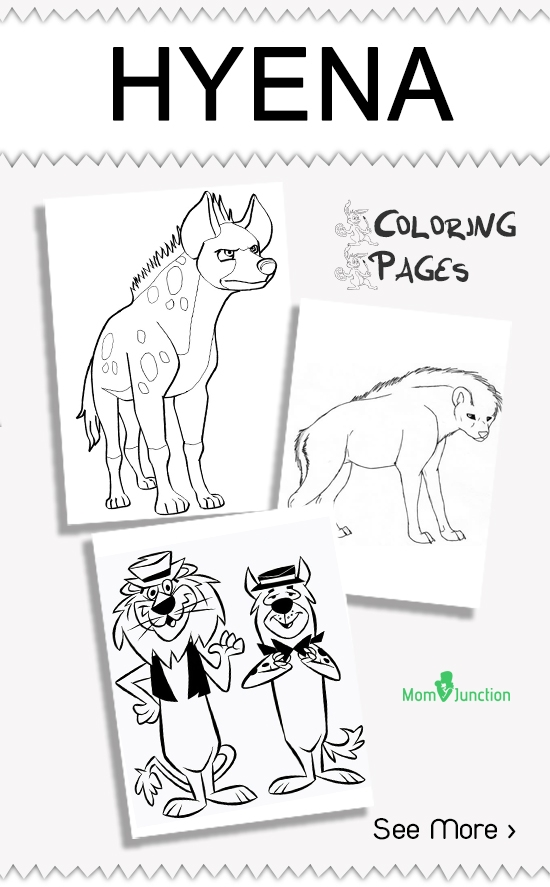 hyena coloring pages - hyena coloring pages