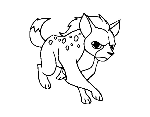 hyena coloring pages - a hyena