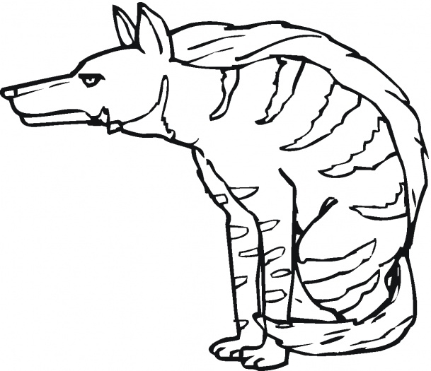 hyena coloring pages - animal printable scary hyena coloring
