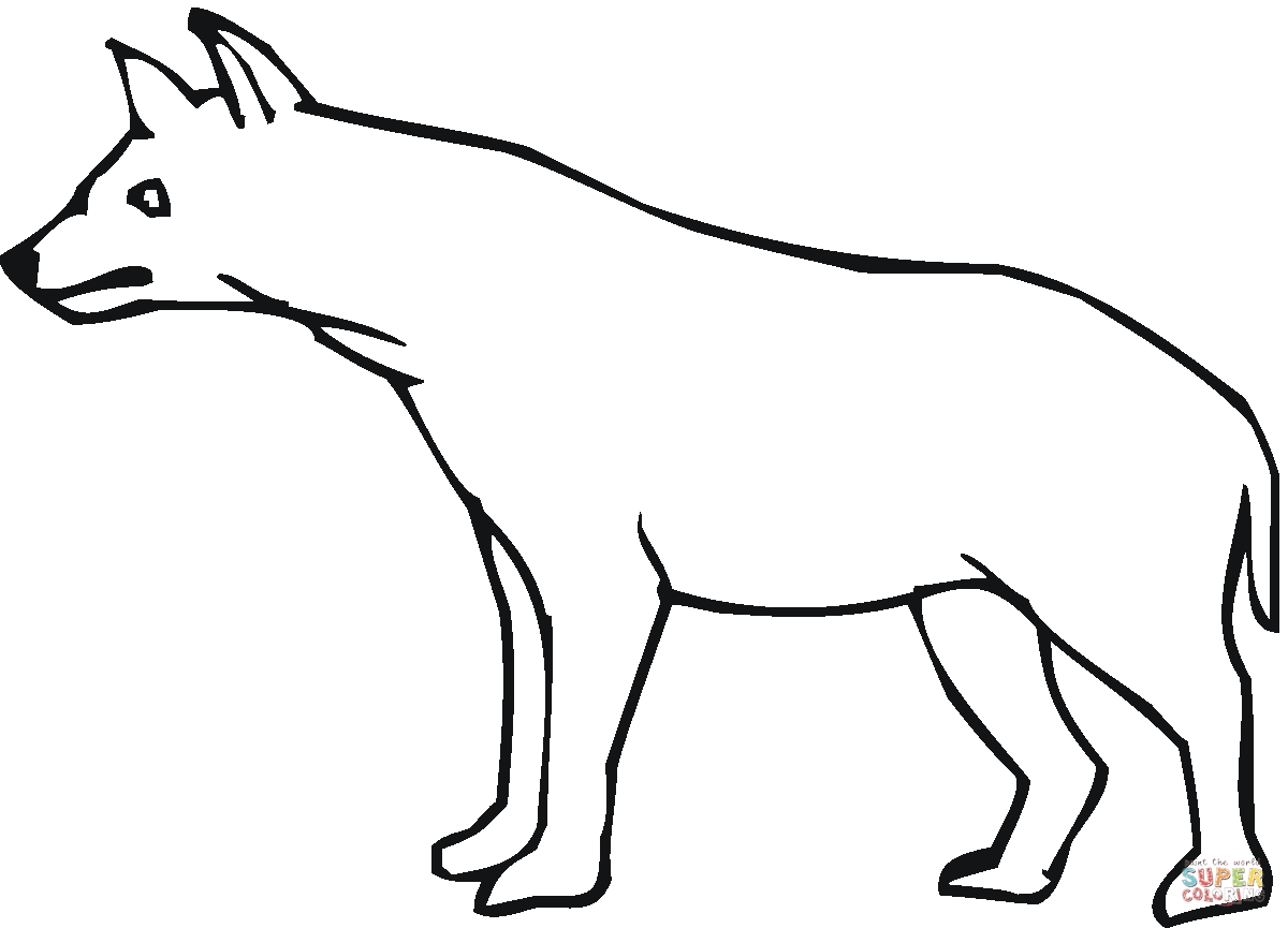 hyena coloring pages - hyena 7