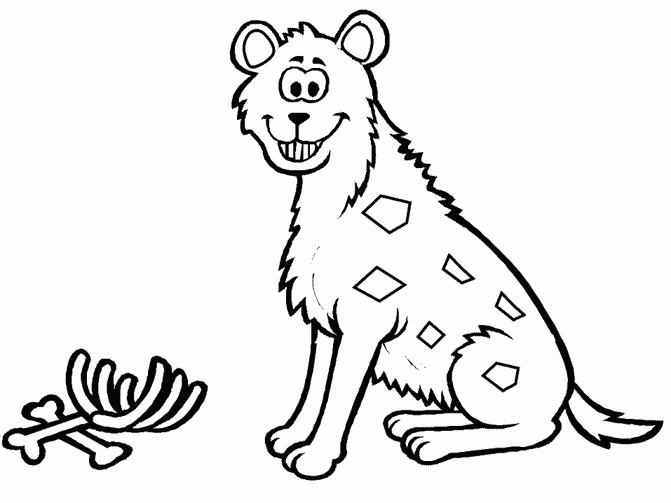 hyena coloring pages - r=hyena