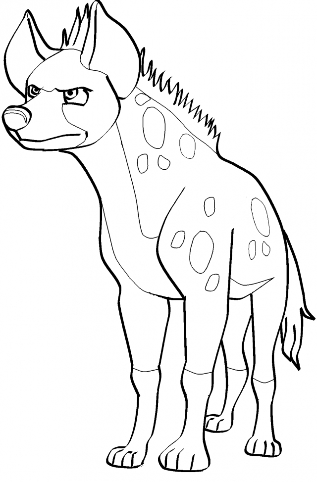 hyena coloring pages - hyena
