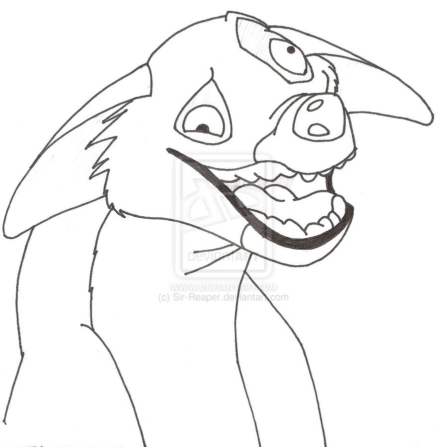 hyena coloring pages - lion king hyenas ed coloring pages sketch templates