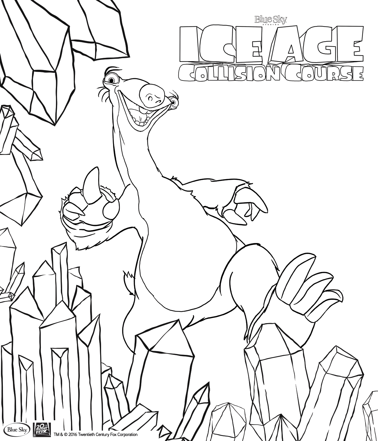 Ice Age Coloring Pages - Ice Age Collision Course Colouring In Pages for Kids