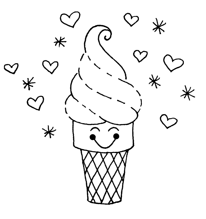 ice cream coloring pages - ice cream coloring pages