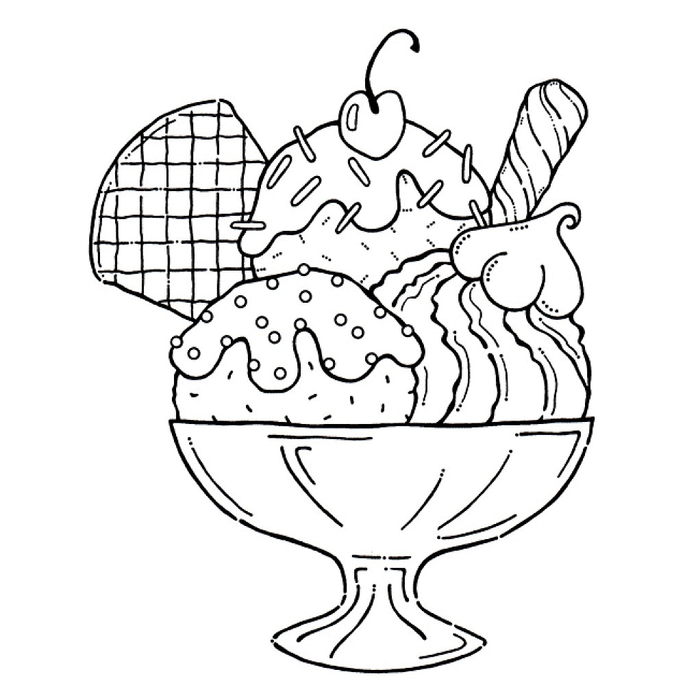 ice cream coloring pages - ice cream truck printable coloring pages sketch templates
