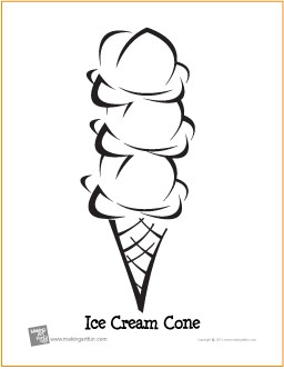 ice cream cone coloring page - ice cream cone coloring page