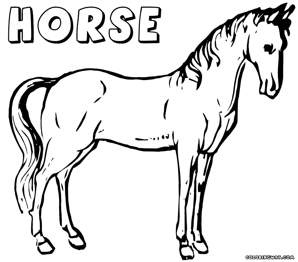 ice skating coloring pages - horse coloring pages