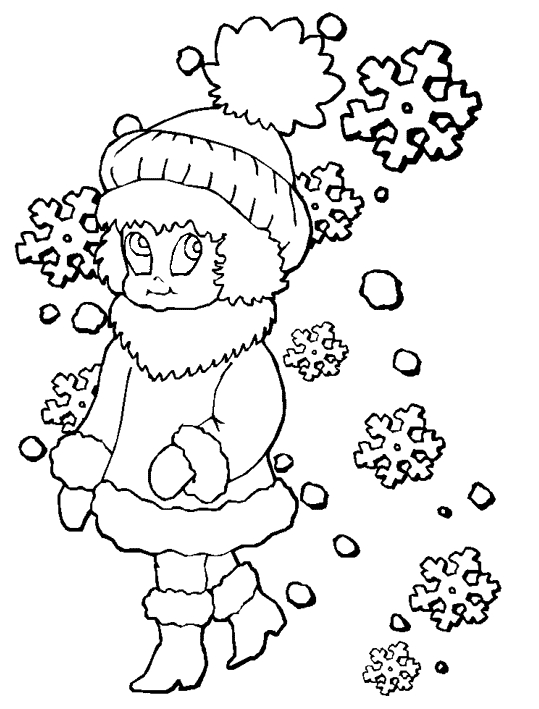 ice skating coloring pages - winter season coloring pages