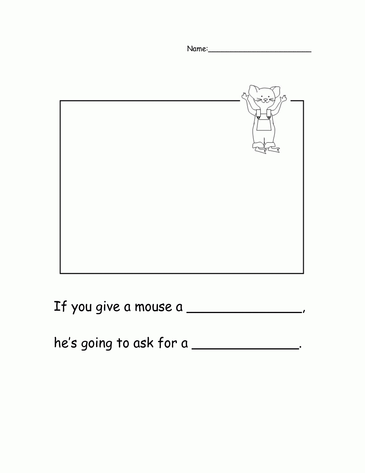 if you give a mouse a cookie coloring pages - if you give a mouse a cookie coloring pages free
