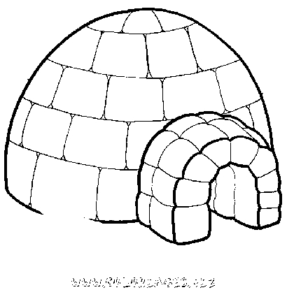 igloo coloring page - imprimer coloriage 7833 igloo