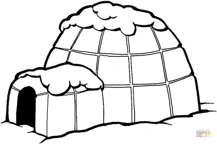 igloo coloring page - igloo