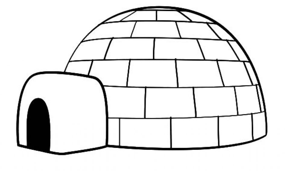igloo coloring page - igloo coloring page extraordinary coloring igloo letter printable eskimo with igloo coloring pages