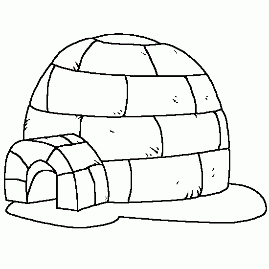 igloo coloring page - q=what an igloo